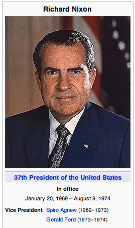 President Richard Nixon from Wikipedia
