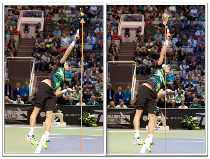 Milos Raonic Serve Impact Point ©jfawcette